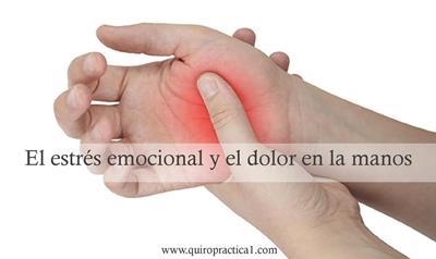 estrés emocional y dolores manos