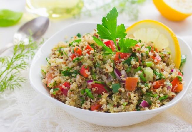 Quinoa con uva y frutos secos