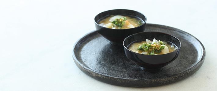 Sopa de Miso para Otoño
